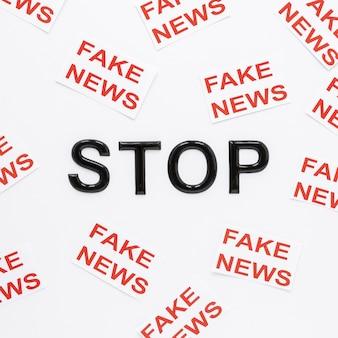 Pare com notícias falsas