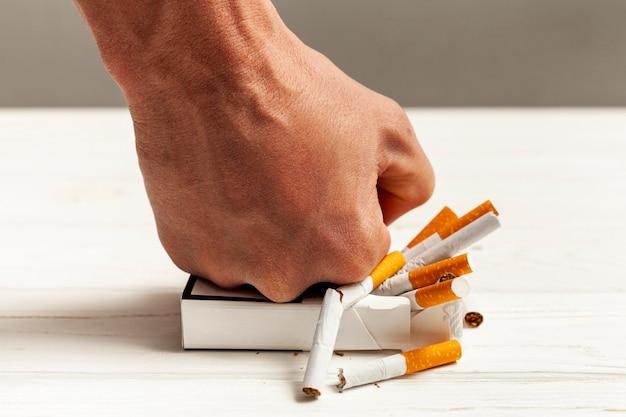Pare de fumar mensagem