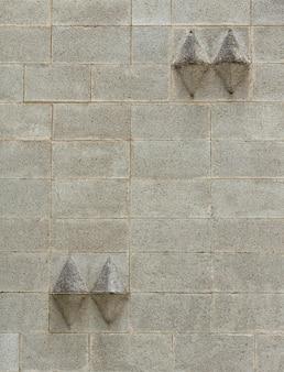 Parede abstrata com formas 3d