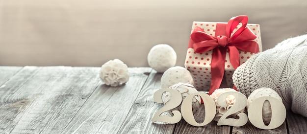 Parede aconchegante de ano novo, ano novo de 2020