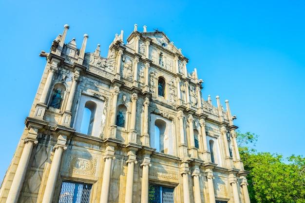 Parede antiga arquitetura famosa unesco