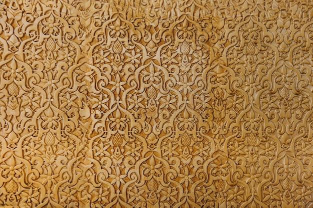 Parede árabe dourada