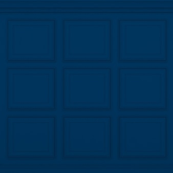 Parede azul clássica, renderização 3d