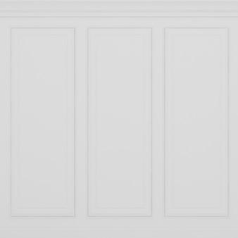 Parede branca clássica renderização em 3d