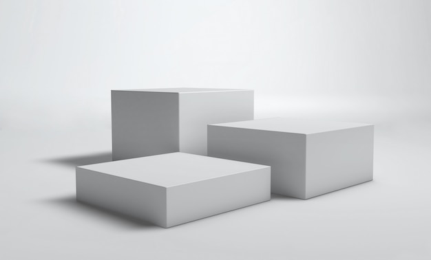 Parede branca de cubo pódio