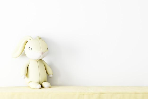 Parede branca do fundo do quarto do bebê