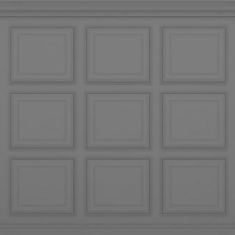 Parede cinza clássica, renderização 3d