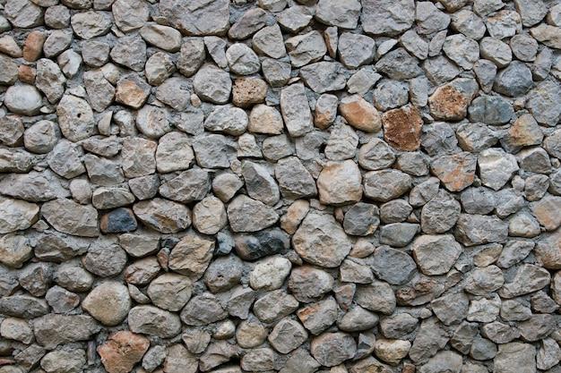 Parede cinza de grandes pedras full frame
