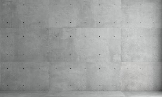 Parede cinza fundo monolítico concreto construção industrial
