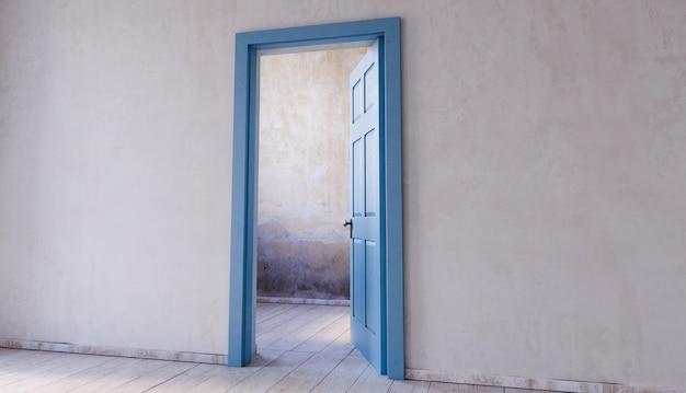 Parede com porta aberta