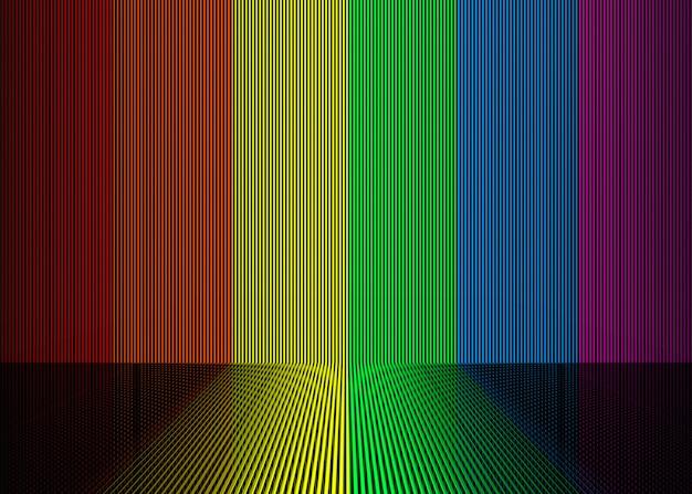 Parede da barra vertical da cor do inclinação do arco-íris de lgbt e fundo do assoalho.
