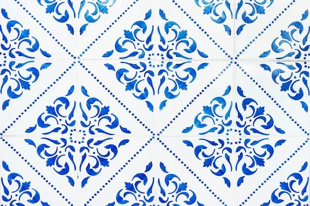 Parede da casa de azulejos portugueses