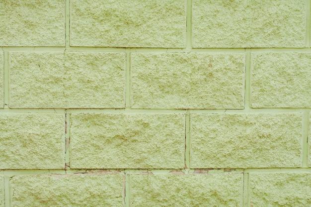 Parede de blocos de concreto verde