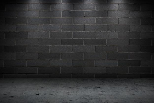 Parede de concreto escuro prédio noturno para segundo plano