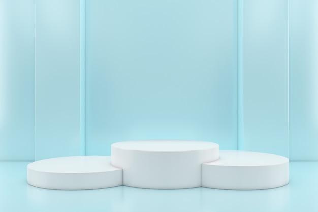 Parede de estilo moderno minimalista de forma geométrica abstrata cor pastel, para mesa de exibição de palco do pódio do estande.