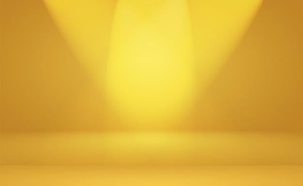 Parede de estúdio gradiente amarelo luxo ouro abstrato