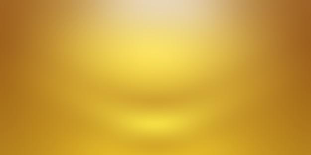 Parede de estúdio gradiente de ouro amarelo abstrato de luxo, bem como uso como plano de fundo, layout, banner e apresentação do produto.