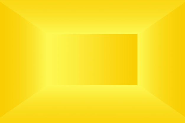 Parede de estúdio gradiente de ouro amarelo de luxo abstrato bem usar como backgroundlayoutbanner e pres ...