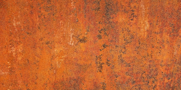 Parede de ferro com ferrugem. plano de fundo para o design. superfície da textura.