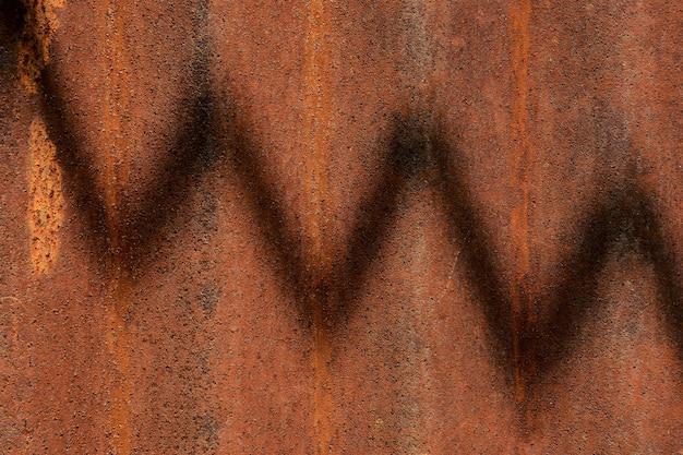 Parede de ferro galvanizado velho e enferrujado