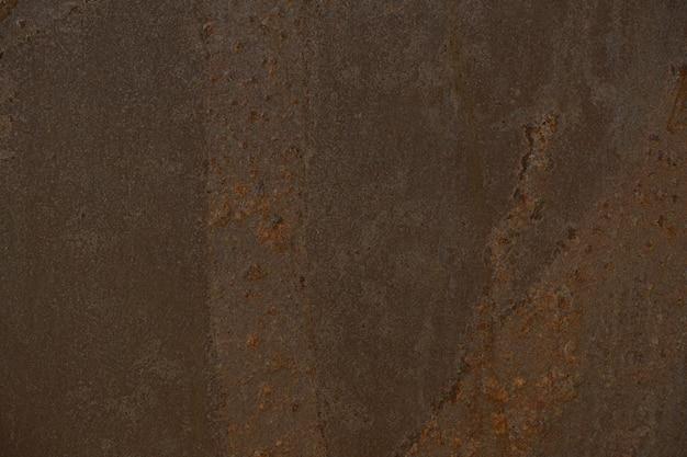 Parede de ferrugem, detalhes do fundo da superfície de metal enferrujado