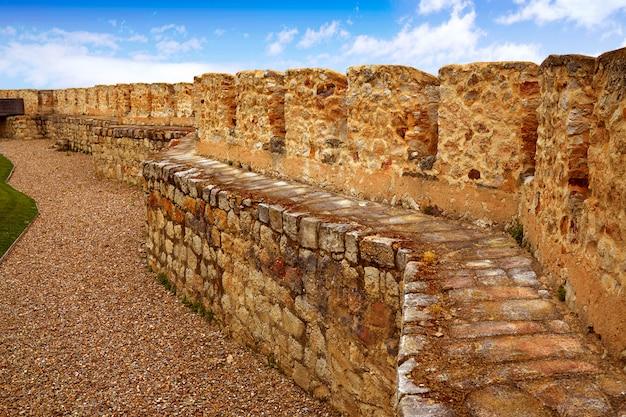 Parede de fortaleza zamora muralla na espanha