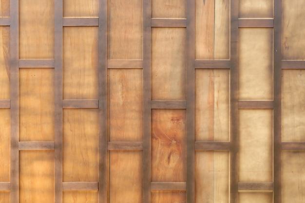Parede de madeira antiga estilo tailandês