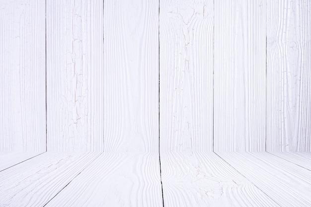 Parede de madeira branca e piso. textura de madeira.