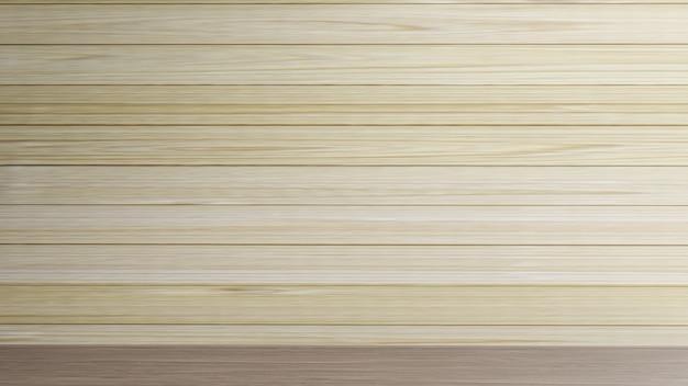Parede de madeira em branco para renderização 3d de conteúdo de fundo