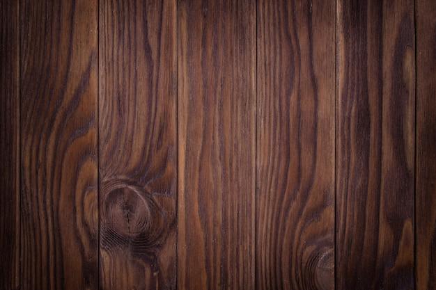 Parede de madeira marrom velha, textura detalhada da foto.