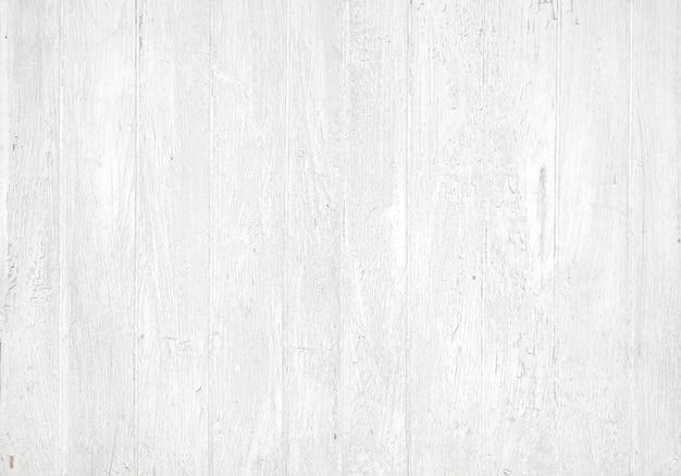 Parede de madeira pintada de branco envelhecido.
