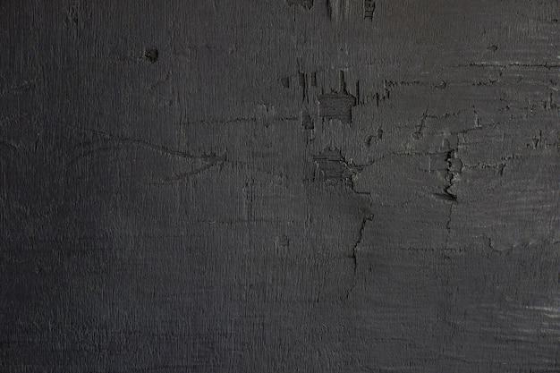 Parede de madeira preta