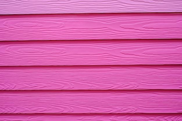 Parede de madeira rosa texturizada
