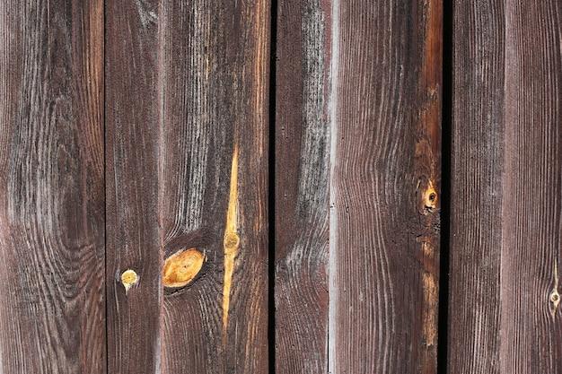 Parede de madeira velha pintada com fundo de tinta marrom
