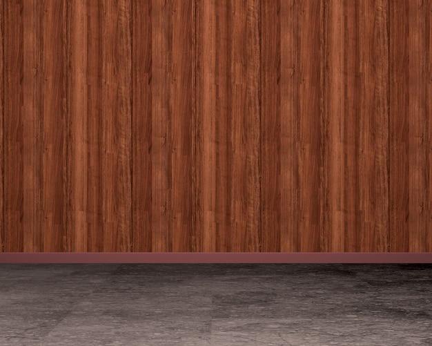 Parede de madeira vintage, renderização em 3d