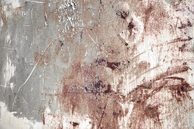 Parede de metal pintada azul enferrujada. textura de foto detalhada