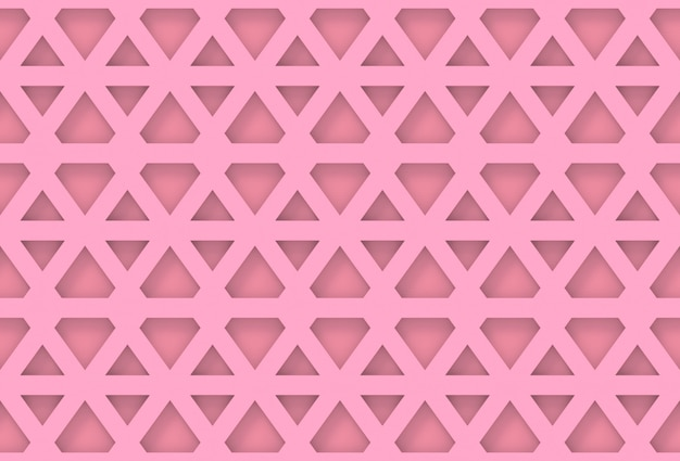 Parede de padrão geométrico hexagonal rosa moderna sem costura
