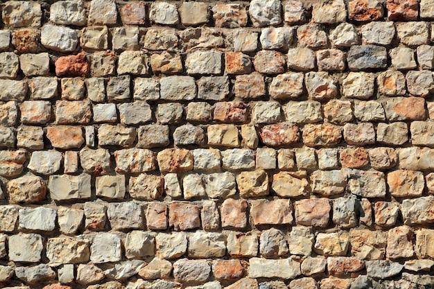 Parede de pedra de alvenaria marrom espanha traditiona