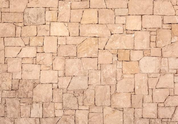 Parede de pedra de perto