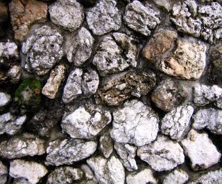 Parede de pedra natural, antiga