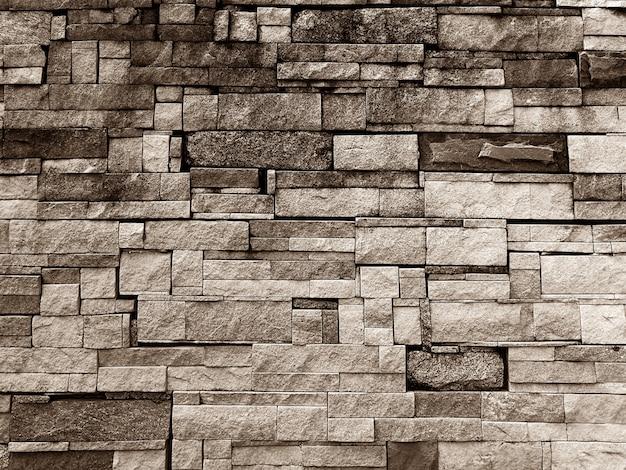 Parede de pedra velha suja marrom