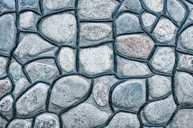 Parede de pedras de textura.