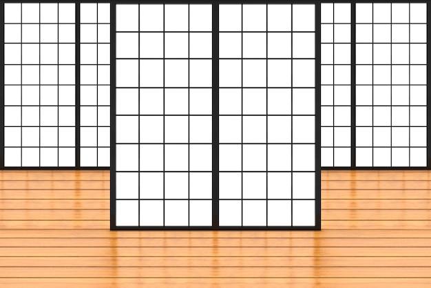 Parede de porta de papel deslizante de estilo japonês moderno