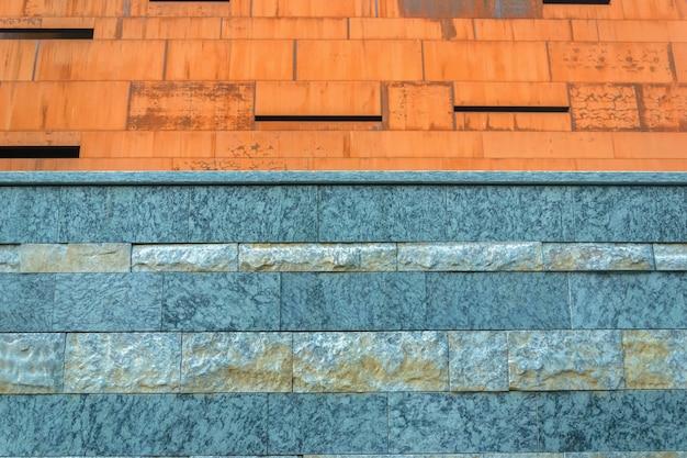 Parede de tapume de pedra azul moderna nova