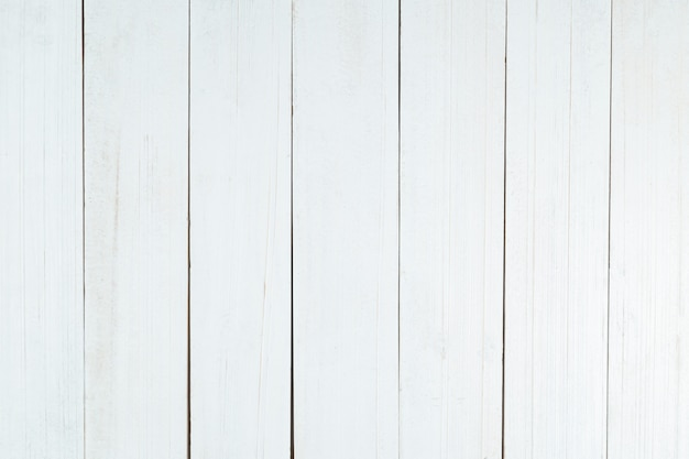 Parede de textura de madeira branca, vista superior de mesa de madeira