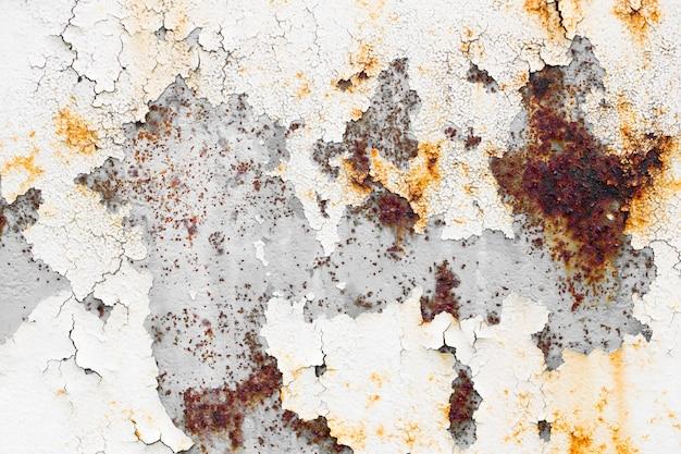 Parede de textura de placa de metal resistiu velho grunge sujo de pintura descascada.