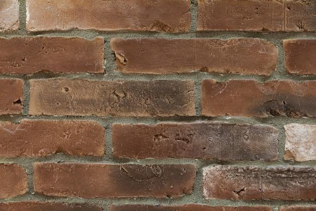 Parede de tijolo antigo close-up