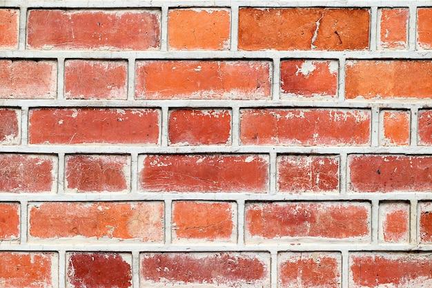 Parede de tijolo áspera para textura ou plano de fundo.
