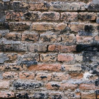 Parede de tijolo áspero e sujo
