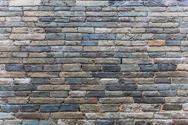 Parede de tijolo azul